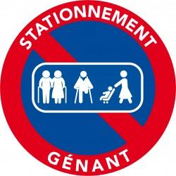 Autocollants voiture stationnement gênant - Passage de personnes. (vendu par pack)