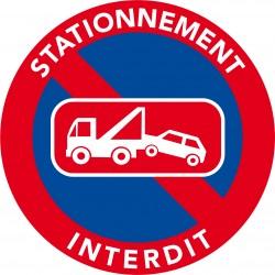 Autocollants interdiction de stationner. Enlèvement véhicule.