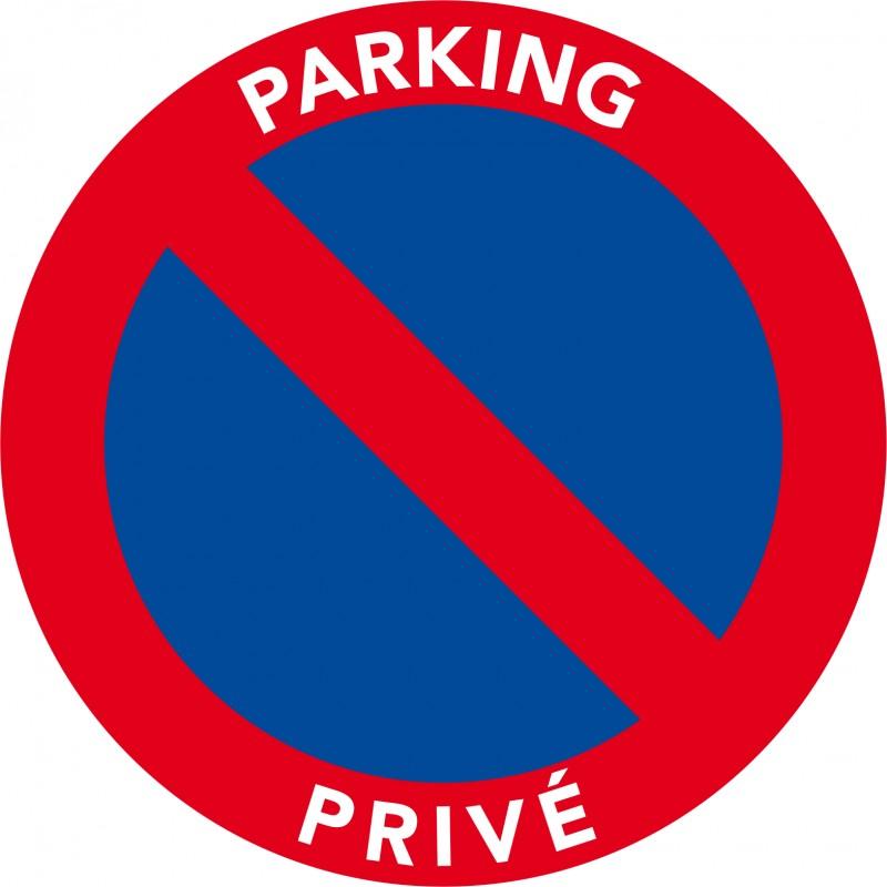 autocollants stationnement interdit sur parking priv pas. Black Bedroom Furniture Sets. Home Design Ideas