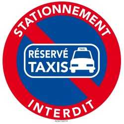 Autocollants interdiction de stationner. Place réservée aux taxis