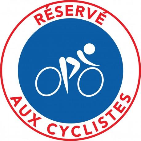 Autocollants Stationnement Interdit - Réservé aux cyclsites
