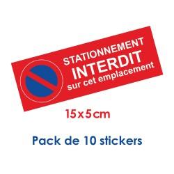 Étiquettes de stationnement interdit