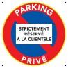 Parking privé strictement réservé à la clientèle