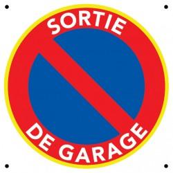 Panneau sortie de garage 25 x 25 cm