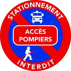 Autocollants stationnement gênant - Accès pompiers - (vendu par pack)