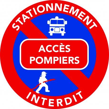 Autocollants stationnement gênant - Accès pompier