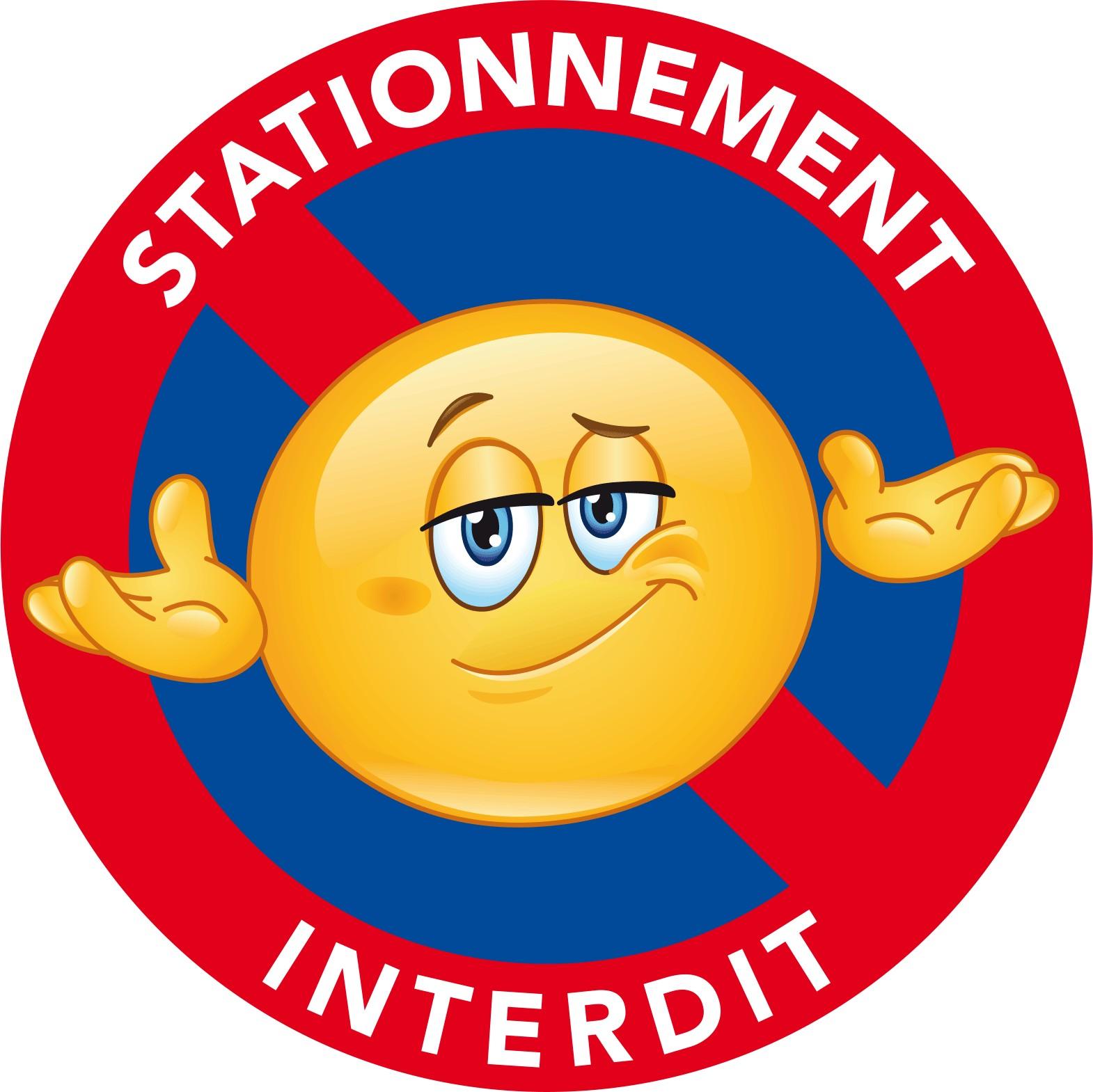 Autocollants Interdiction De Stationner Pour Voiture Mal Garee