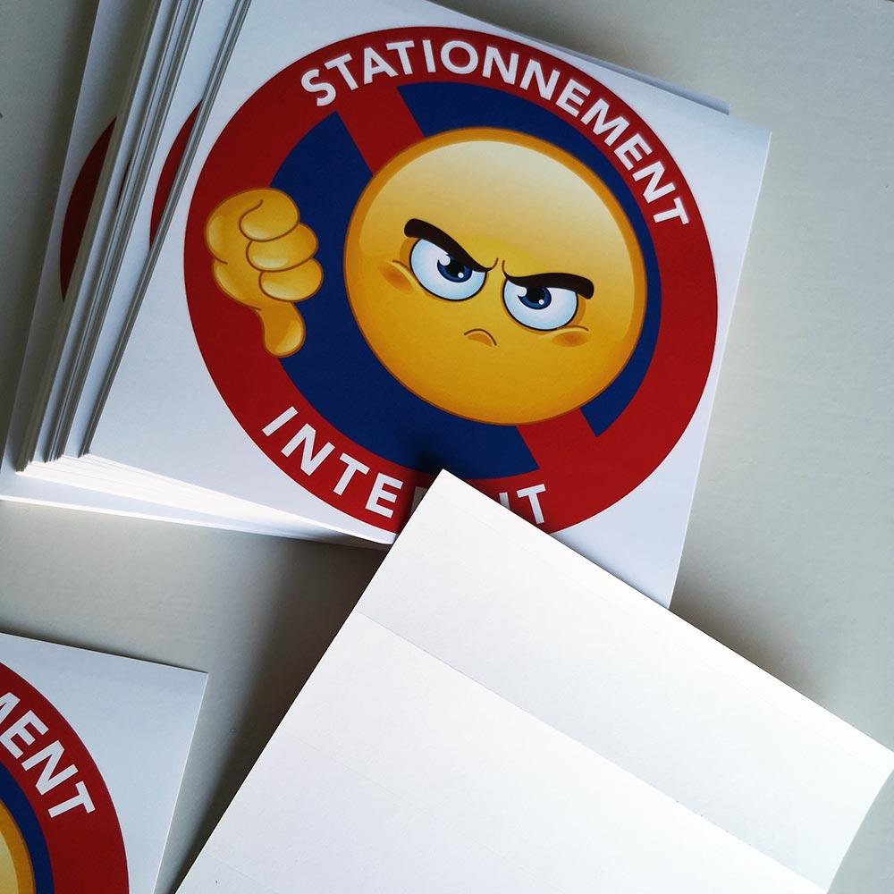 interdiction de stationner stickers